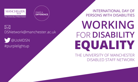 The University of Manchester Turns Purple for Disability Equality