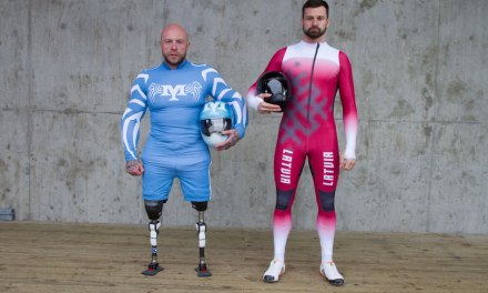 Para powerlifter takes on skeleton sport