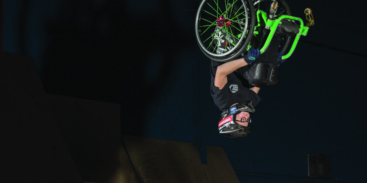 Wheelchair backflips at 14
