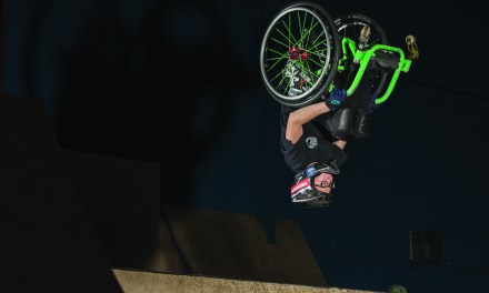 Wheelchair backflips at 14