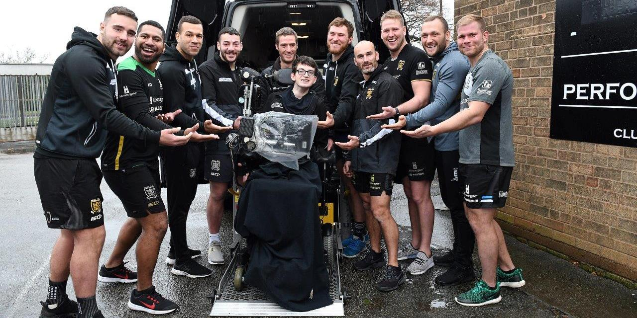 Hull FC fan gets Custom designed wheelchair accessible vehicle
