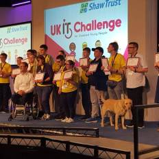 this image is at the 'UK IT Challenge' sponsored by the 'Shaw Trust'