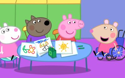 Mandy Mouse joins Peppa Pig's playgroup