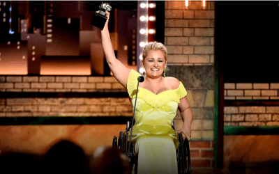 Disabled actor makes history as she wins a Tony Award