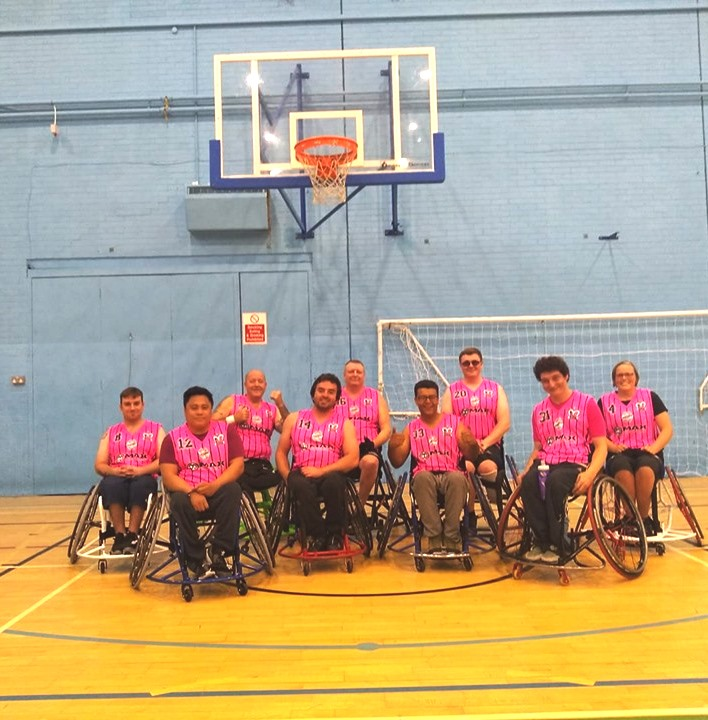 New wheelchair basketball team - Windsor Monarchs first games