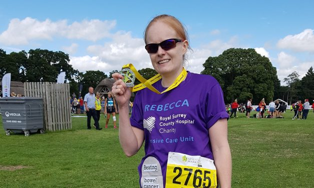 Trio Ostomate races to half-marathon success