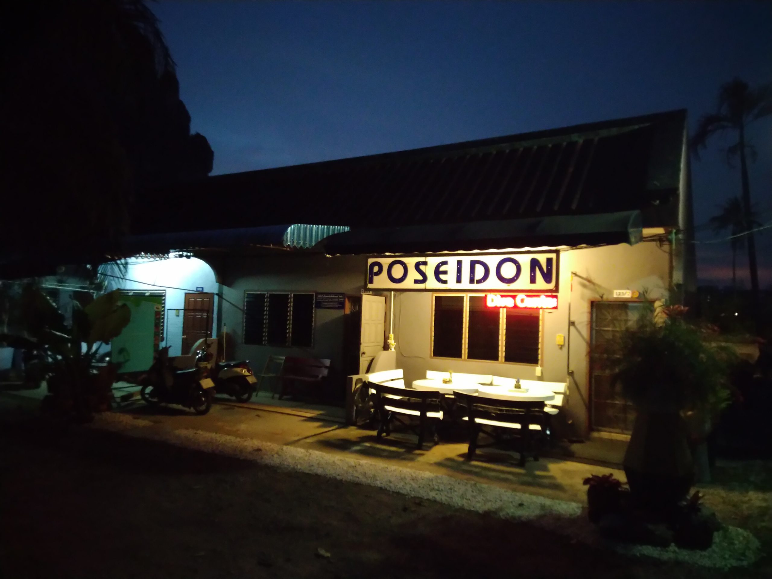 Poseidon Dive Center by Night