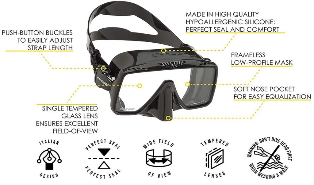 Cressi Frameless Mask 2021