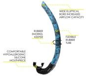 Cressi Corsica Flexible Rubber Snorkel