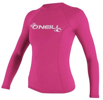 Women rash guard pink