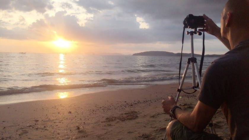 Daniel Sasse Photographing Sunset