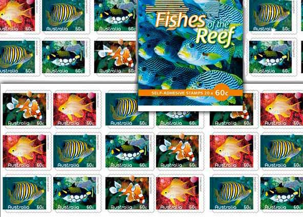 Australian fishes of the reef stamps