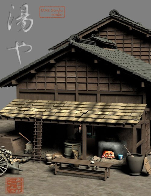 Old Japanese Town Edo Vol3 Environments And Props For