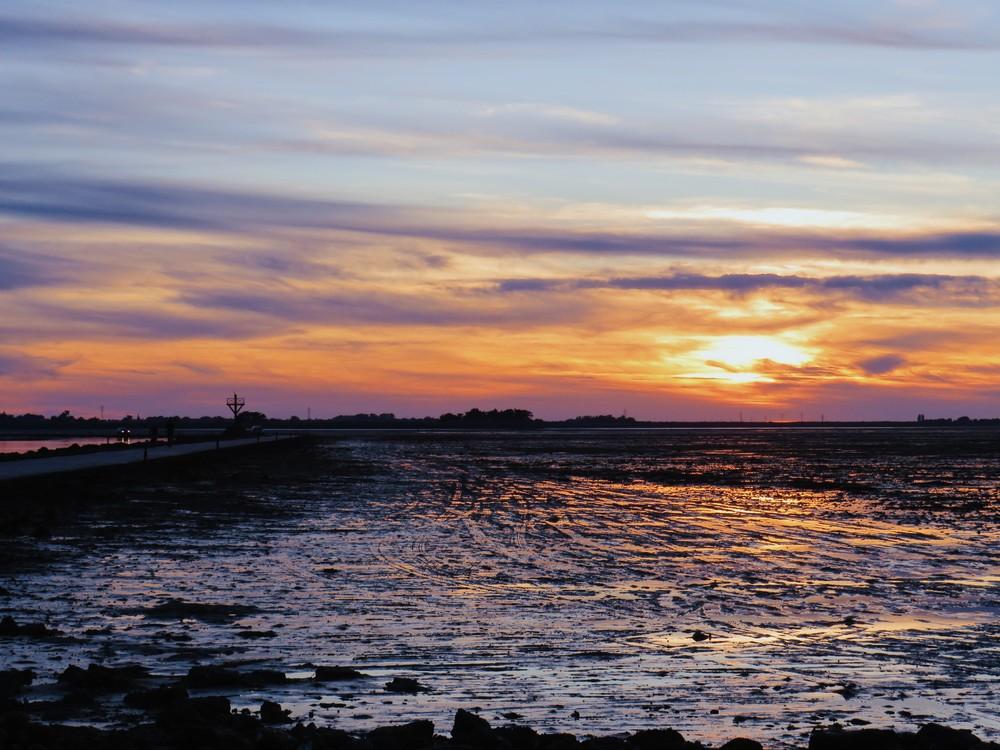coucher de soleil passage du gois noirmoutier