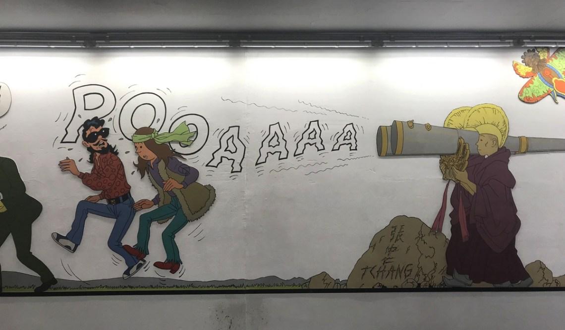 fresques tintin metro bruxelles