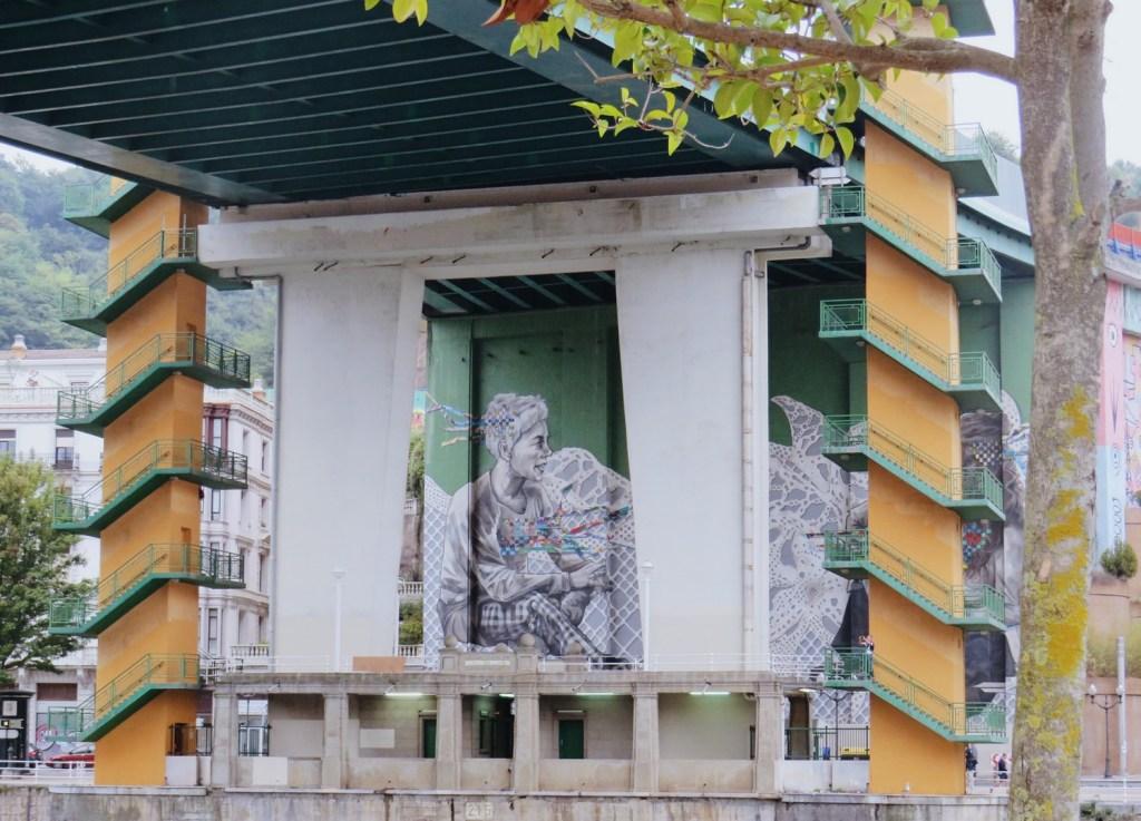 bilbao artistique fresque pont ria