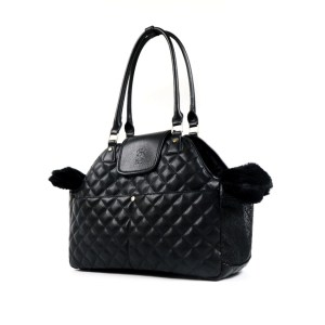 Paris Quilted Pet Carrier In Black
