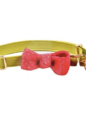 Lime-Green-Bow-Cat-Collar