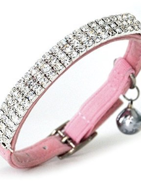 Pink-Velvet-Crystal-Cat-Collar
