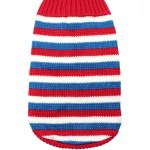 Red White and Blue Striped Dog Jumper