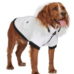 Snow White Quilted Parka Dog Coat