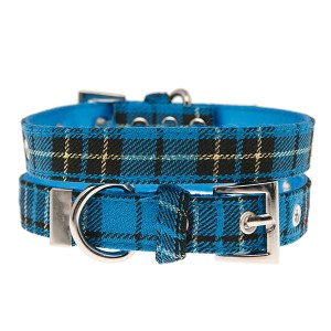Blue-Tartan-Dog-Collar