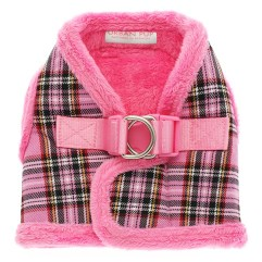 luxury-fur-tartan-harness-pink