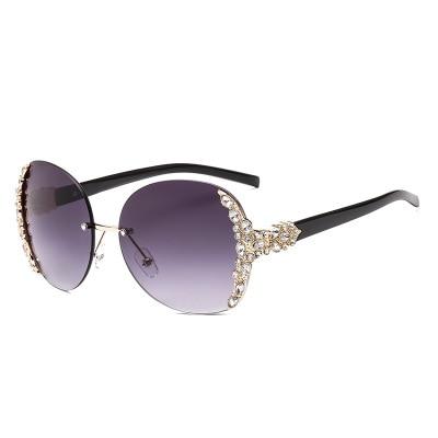 JASPEER New 2020 Diamond Fashion Sunglasses Women Men Metal Rimless Sunglasses Brand Design Women's Glasses UV400