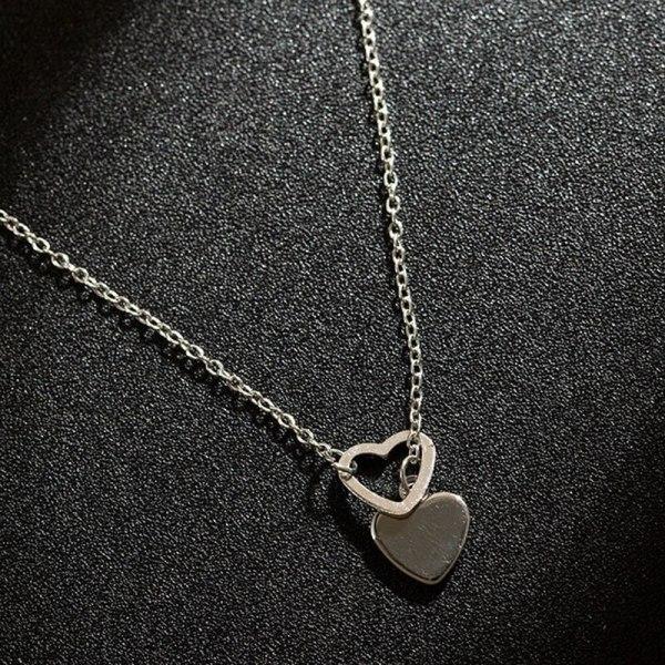 Double Heart Pendant Necklace