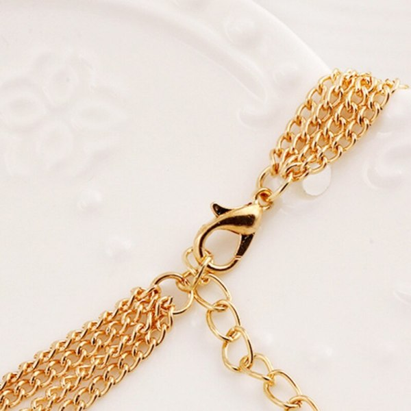 Multilayers Chain Imitation Pearl Pendant Necklace