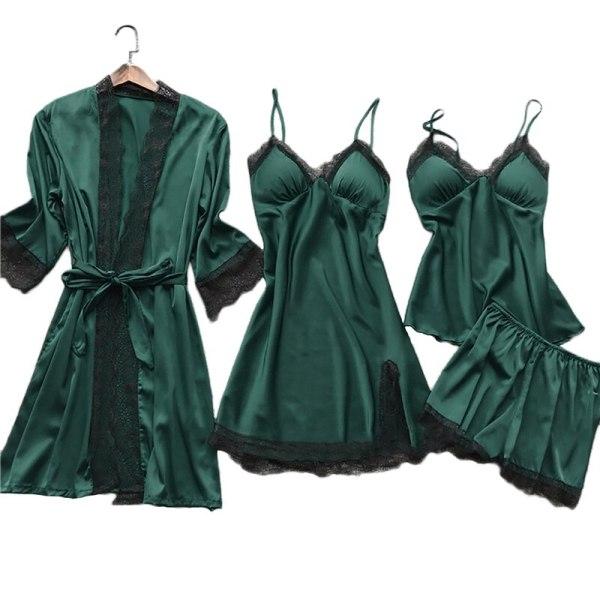 Silk Sleepwear 4pcs Set