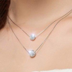 Diamond Ball Double Necklace