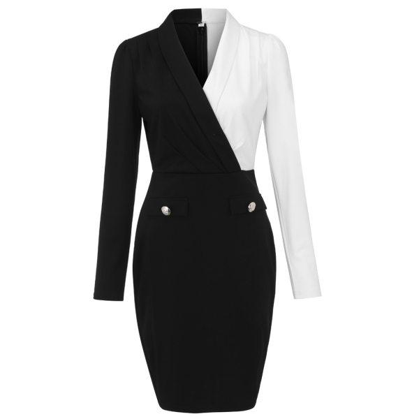 Blazer Patchwork Elegant Work dress