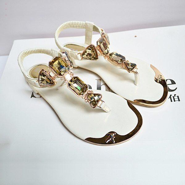 Fashion Rhinestone Flat Sandals