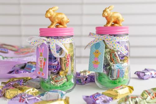 DIY Easter Decor Mason Candy Jars
