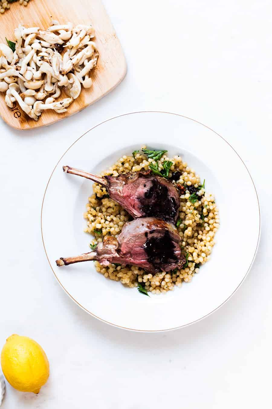 Herb-Marinated Rack of Lamb Recipe #TravelToTaste (Inspiration compliments of Italy)