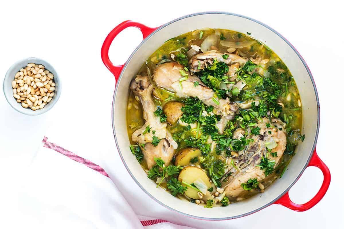 One Pot Spanish Chicken Stew Recipe