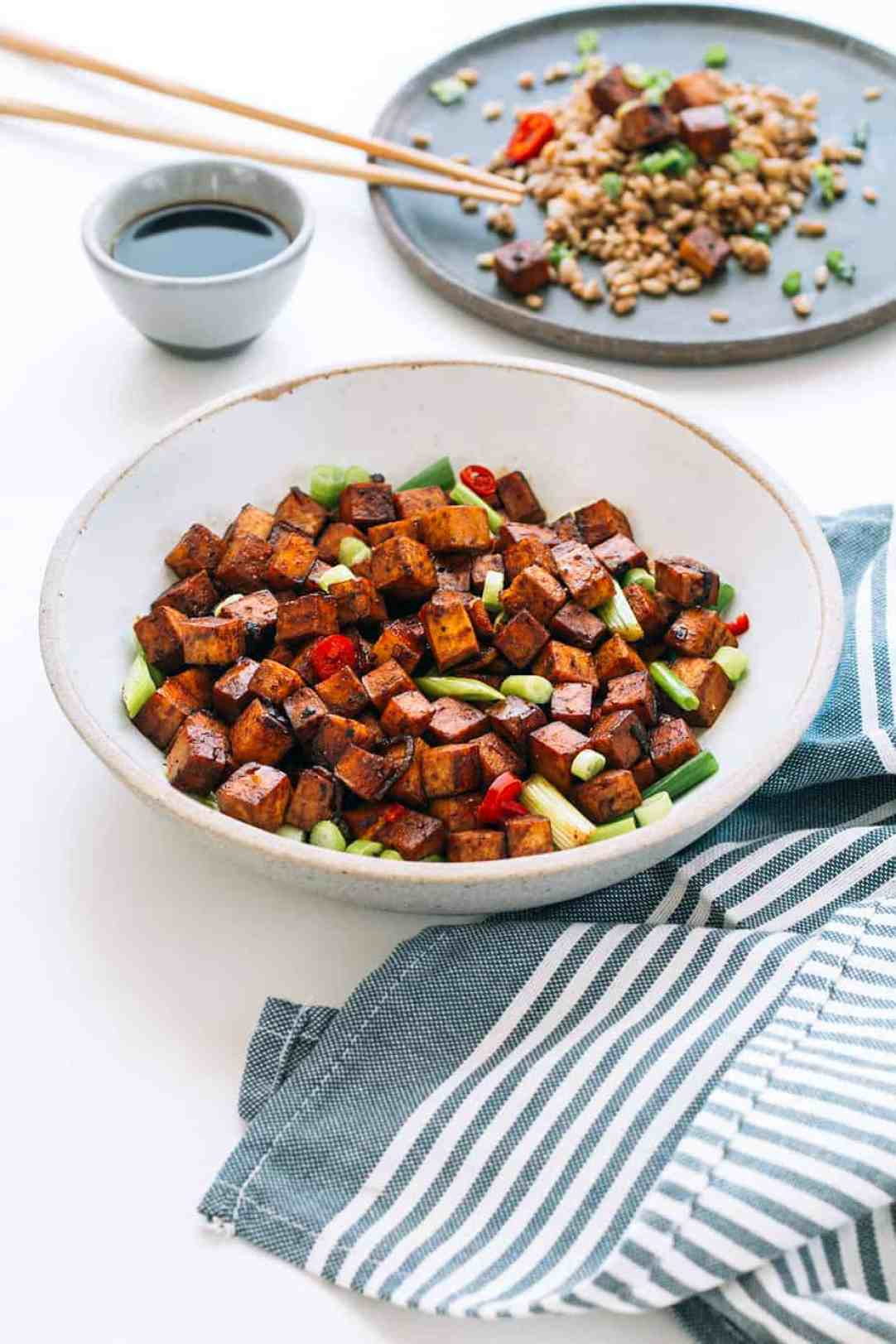 Tofu Stir Fry with Soy Sauce, Garlic and Ginger - Posh Journal