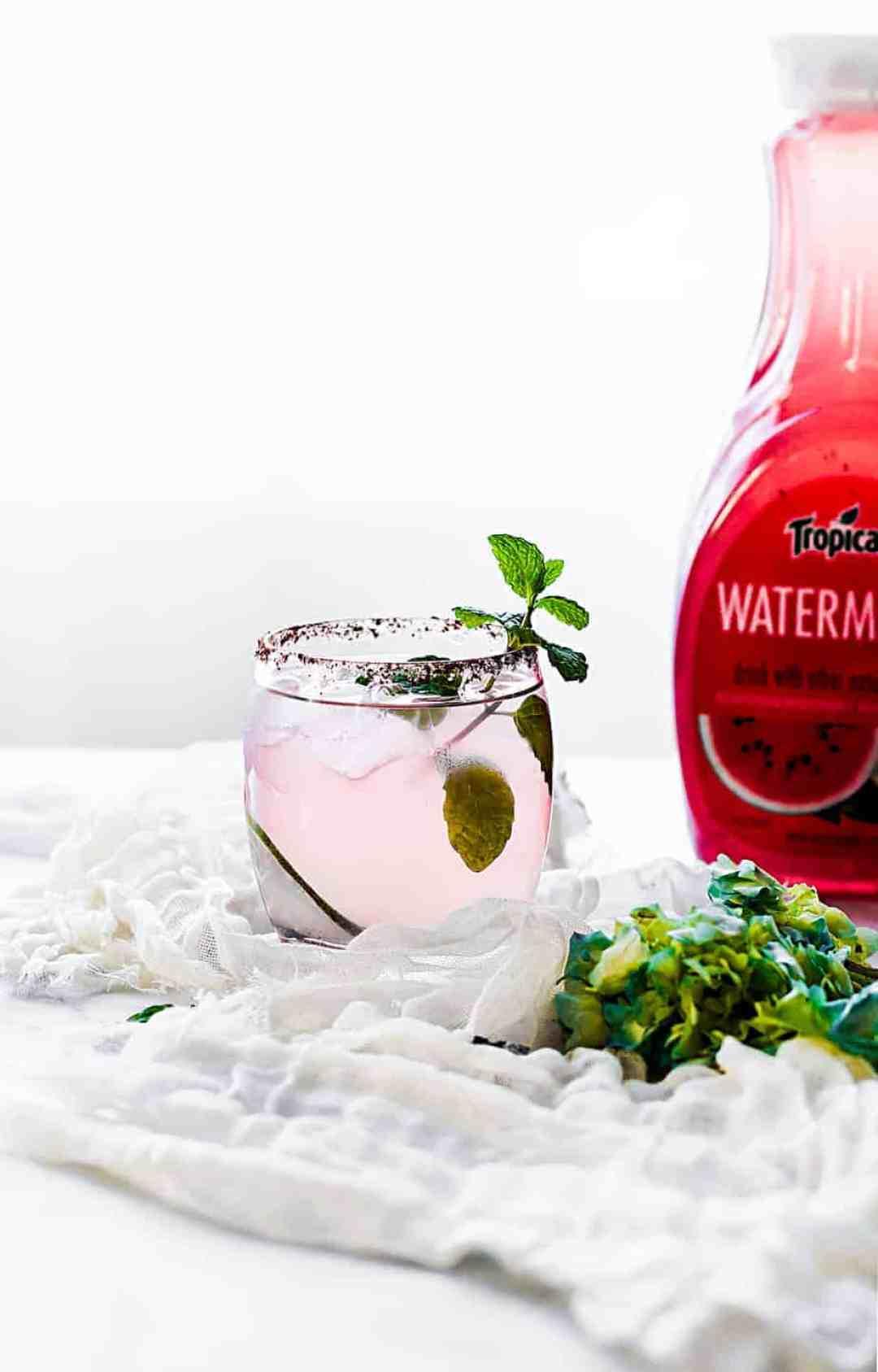 kickin' watermelon margarita with Tropicana Watermelon juice