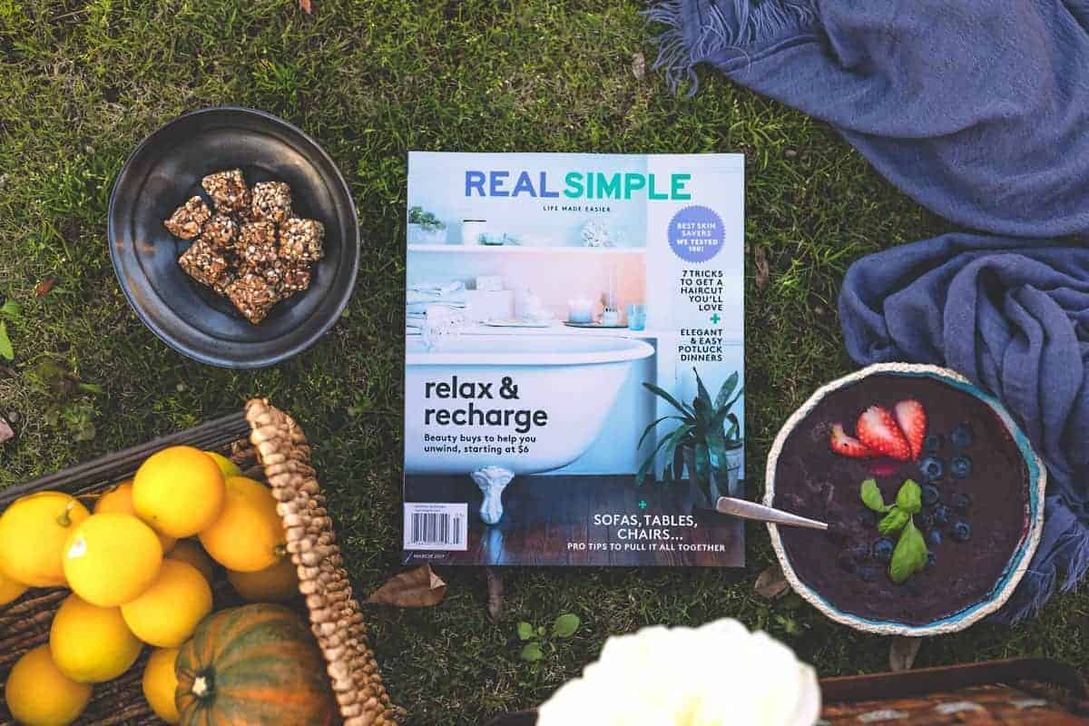 "Real Simple® Magazine: A Best Friend During my ""Me Time"""