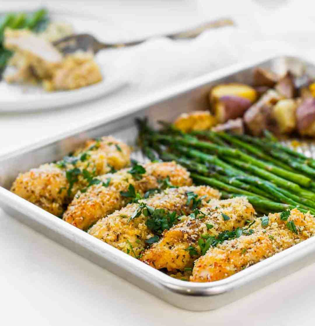 oven baked parmesan chicken with italian seasoning