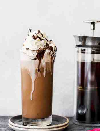 Iced coffee mocha. Learn how to make an iced coffee mocha recipe at home. Brewed coffee served with homemade chocolate syrup, ice, and whipped cream. Make your own iced mocha coffee at home, save money and save time because you don't need to go to the coffee shop to enjoy the deliciousness of this refreshing iced coffee mocha.