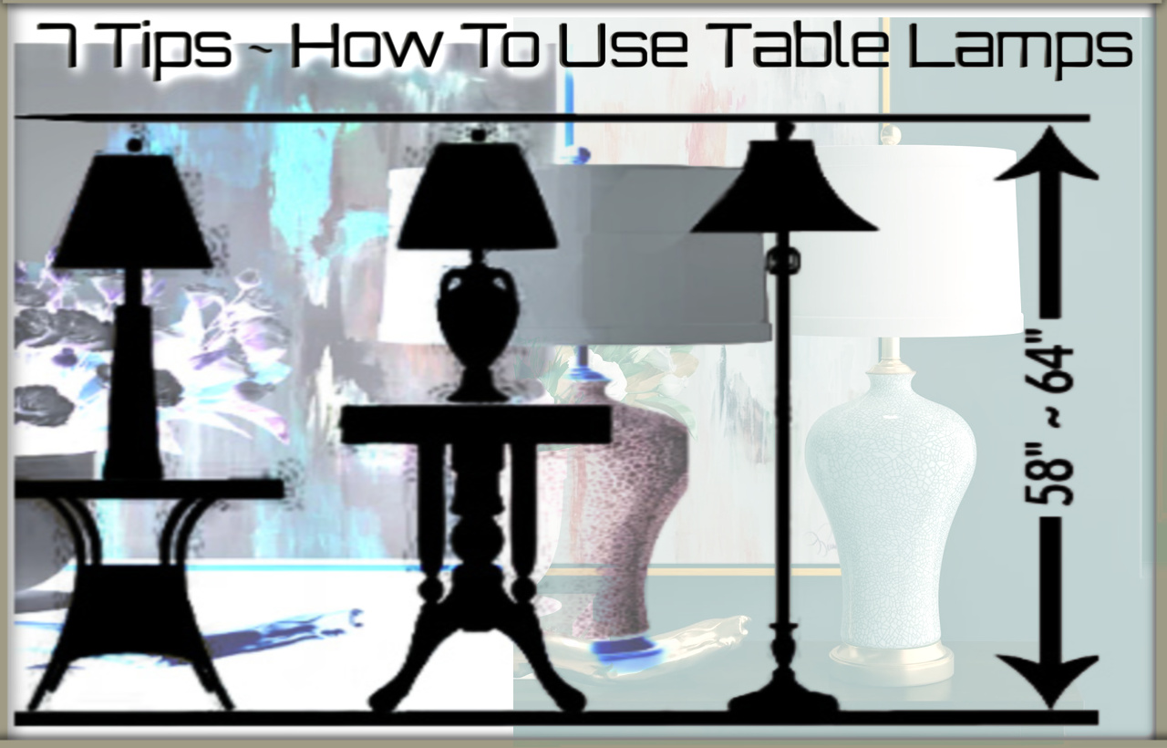 7 Tips How To Use Table Lamps Posh Lamps