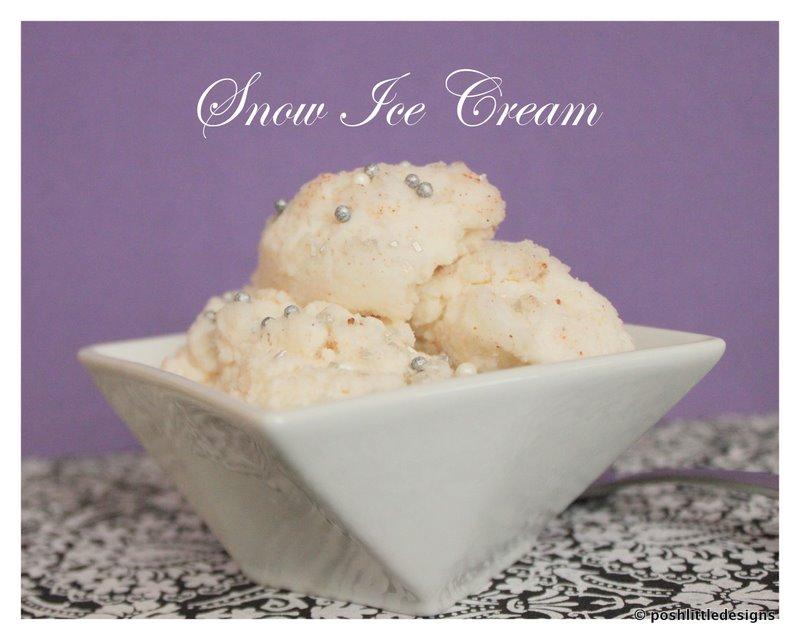 Posh Treats ~ Snow Ice Cream