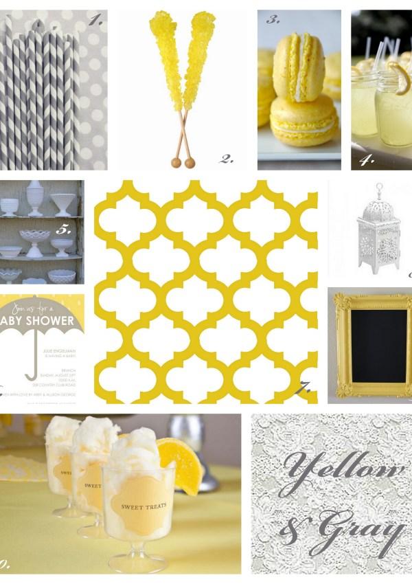 Sunshine Yellow & Gray ~ Baby Shower Inspiration