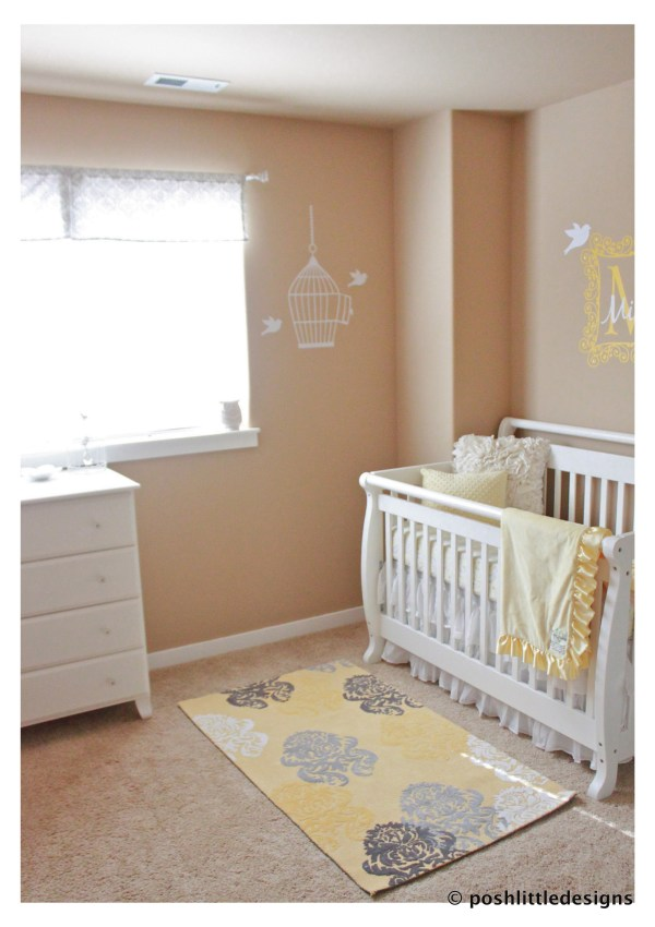 Baby Mila's Nursery ~ Yellow & Gray