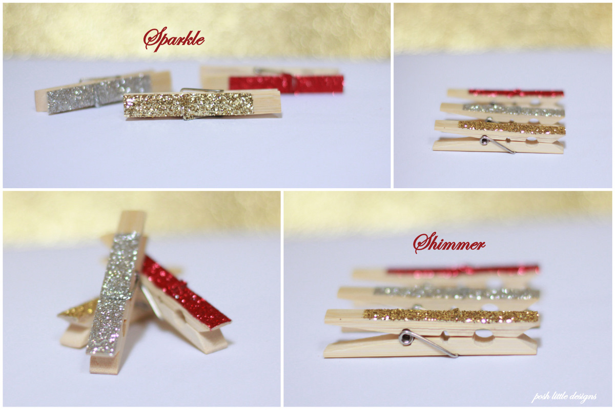 diy glitter clothespins holiday edition