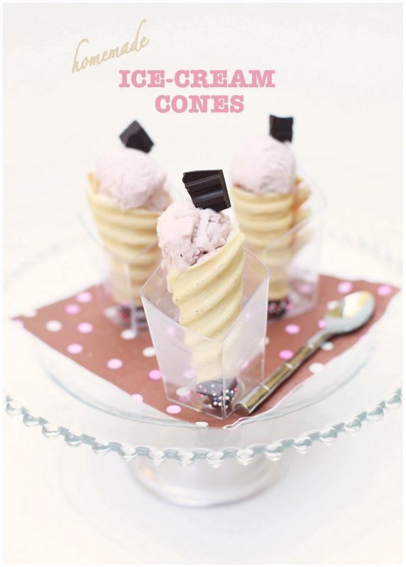 Homemade Ice-cream cones
