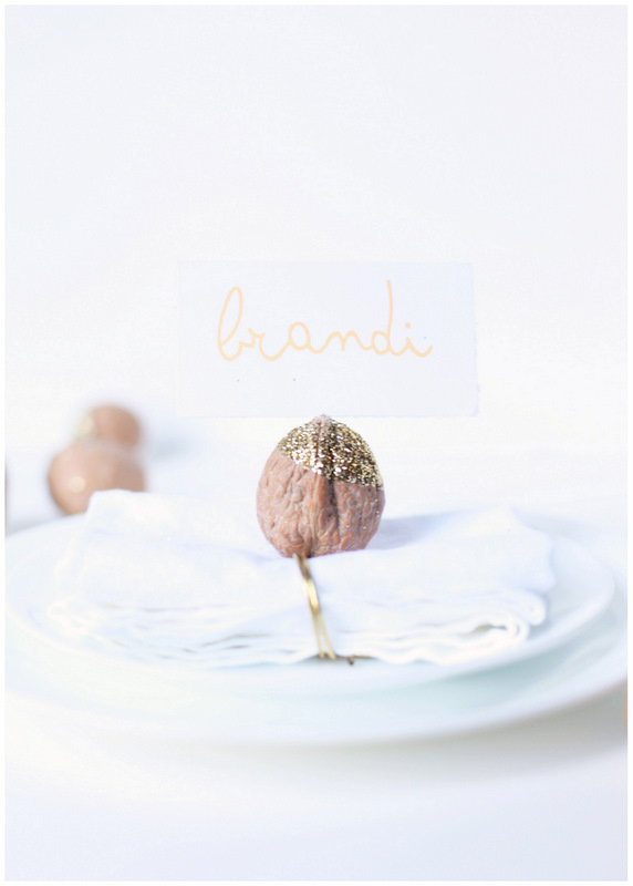 Create: Glittered Walnut Place Card Holders