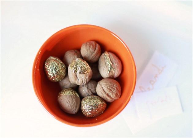 Glittered walnuts